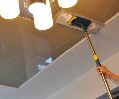 Как мыть глянцевые натяжные потолки