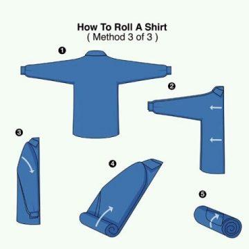 Как правильно сложить рубашку чтобы она не мялась