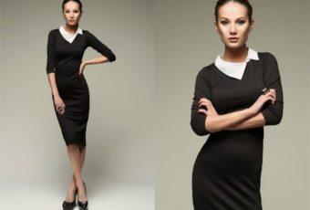 Как отбелить белый воротник на черном платье