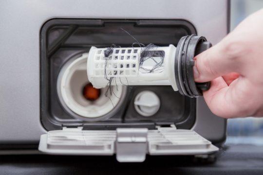 чистим фильтр стиральной машинки