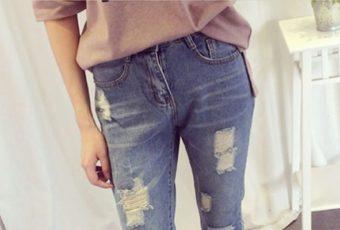 Как сделать дырки на джинсах своими руками?