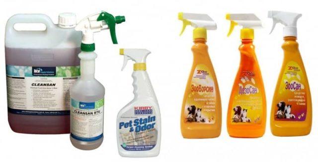 Препараты для удаления запаха мочи