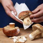 чистка грибов