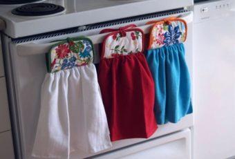Как в микроволновке отстирать кухонное полотенце