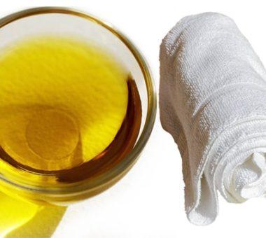 Как отстирать кухонные полотенца с помощью растительного масла