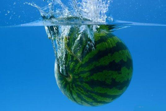 арбуз в воде