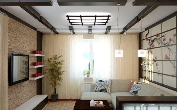 Гостиная в японском дизайне