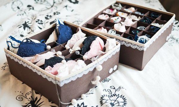Классные идеи, как хранить нижнее белье в шкафу, если нет выдвижных ящиков