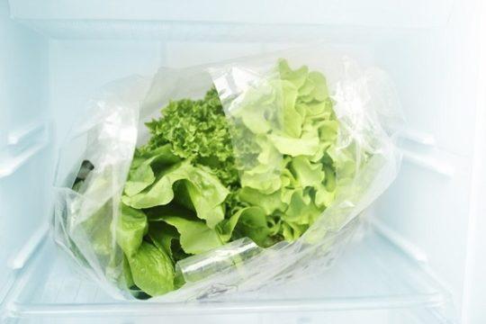 салат в пищевой пленке
