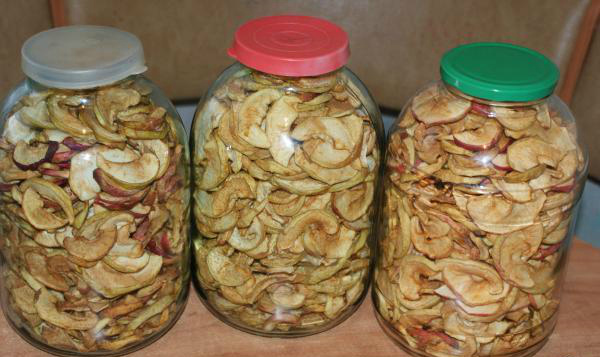 Как хранить сушёные яблоки в домашних условиях