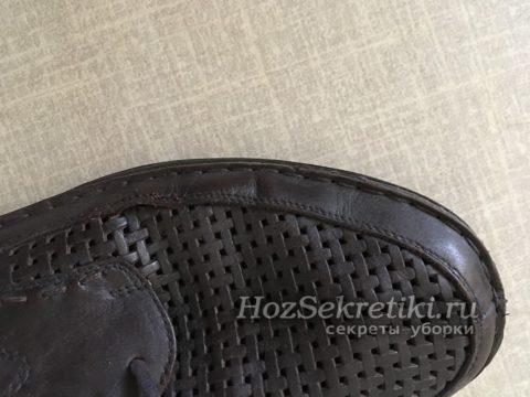 чистая высушенная обувь