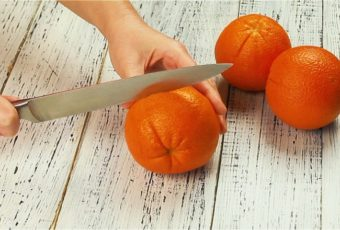 Быстро и без брызг учимся чистить апельсин