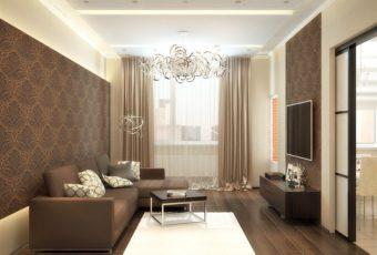Бюджетный вариант интерьера зала 18 кв м в квартире с фото