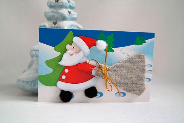 Открытка с Дедом Морозом