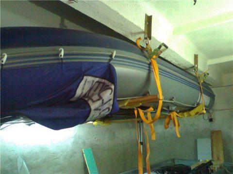 Хранение лодки пвх в гараже
