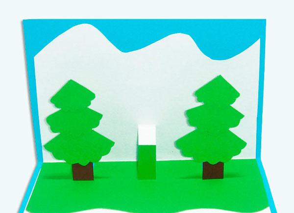 Клеим елки