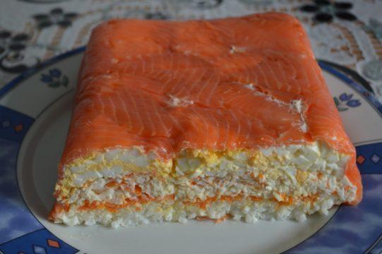Торт с лососем