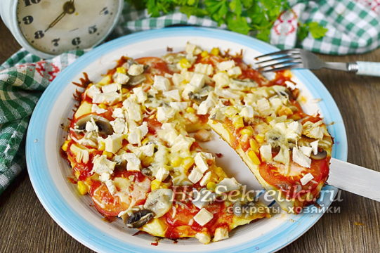 быстрая пицца готова