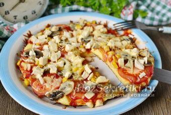 Пицца за 5 минут – очень быстрая и вкусная