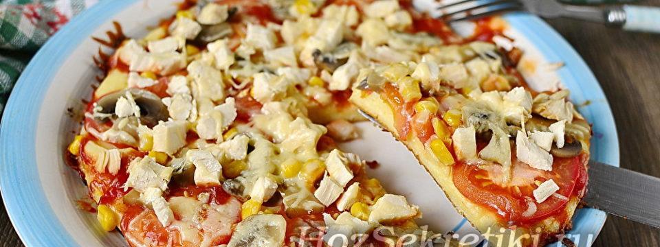 Пицца за 5 минут — очень быстрая и вкусная