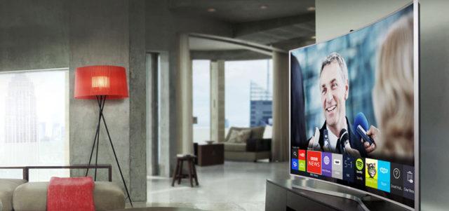 телевизор в интерьере 2018