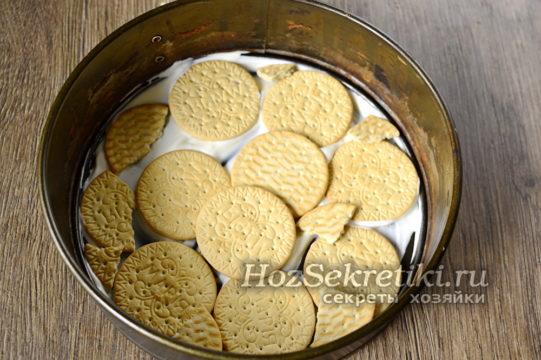 выложить слой печенья