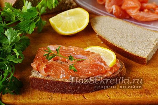 соленое филе красной рыбы