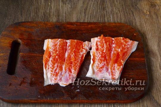 рыбу разрезать