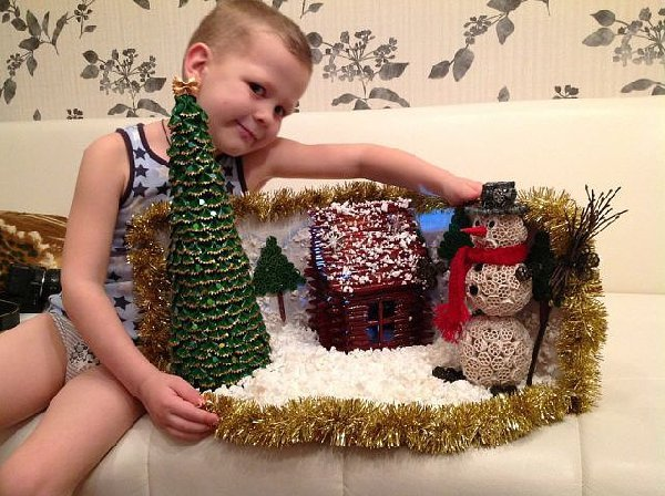 Новогодние поделки для детского сада