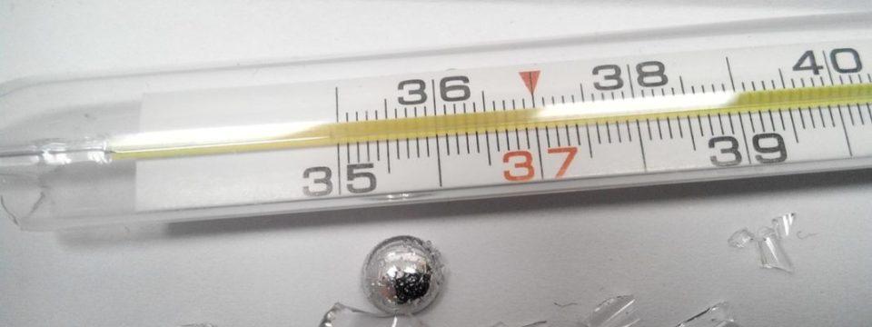 Что нужно делать, если разбился градусник в квартире