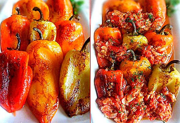 Жареный перец с томатным соусом фото