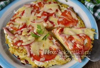 Картофельная пицца на сковороде за 10 минут