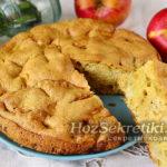 ленивая шарлотка с яблоками