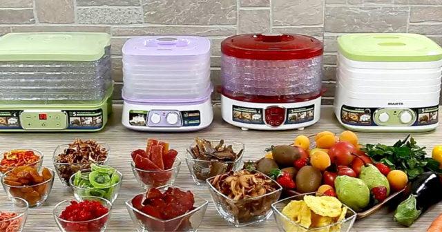 Виды сушилок для овощей и фруктов