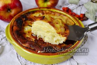 """Яблочный пирог """"Невидимый"""" – много яблок и мало теста"""