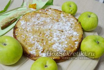 Простой и очень вкусный насыпной яблочный пирог Три стакана