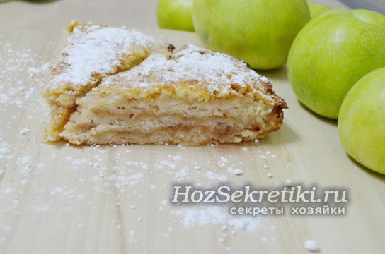"""яблочный пирог """"Три стакана"""""""