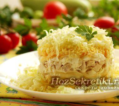 """Салат """"Лебединый пух"""" – очень нежный и вкусный салатик на скорую руку"""