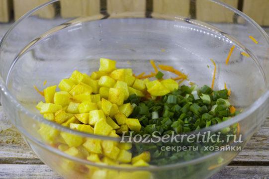 добавить зеленый лук
