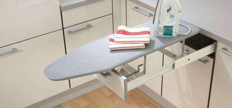Встраиваемая гладильная доска — в шкафу, настенная, выдвижная: как сделать своими руками
