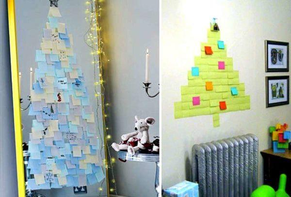 Декор стен в офисе к Новому 2019 году