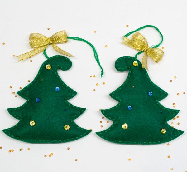 Новогодняя елочка – игрушка из фетра