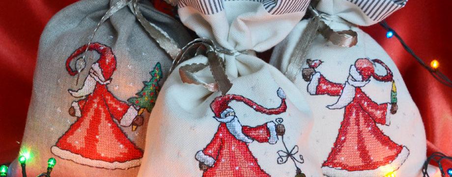 Новогодние мешочки для подарков: мастер-классы 2019