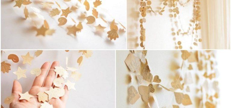 Как сделать гирлянды из бумаги своими руками на Новый год