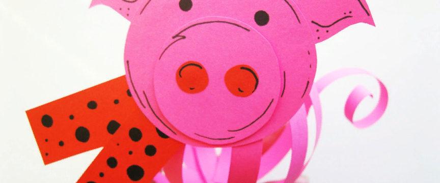 Свинья из бумаги своими руками: схемы и шаблоны