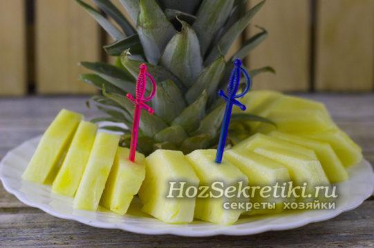 ананас готов к подаче