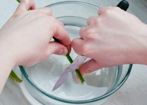 Подрезаем ножку
