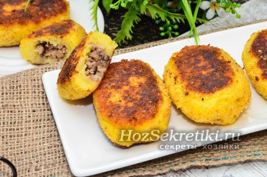 зразы из картофеля с мясным фаршем
