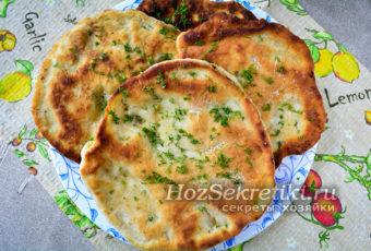 Быстрая лепешка на сковороде вместо хлеба