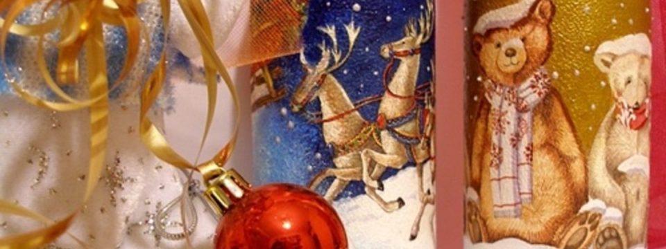 Декупаж бутылки шампанского на Новый 2019 год: мастер-класс